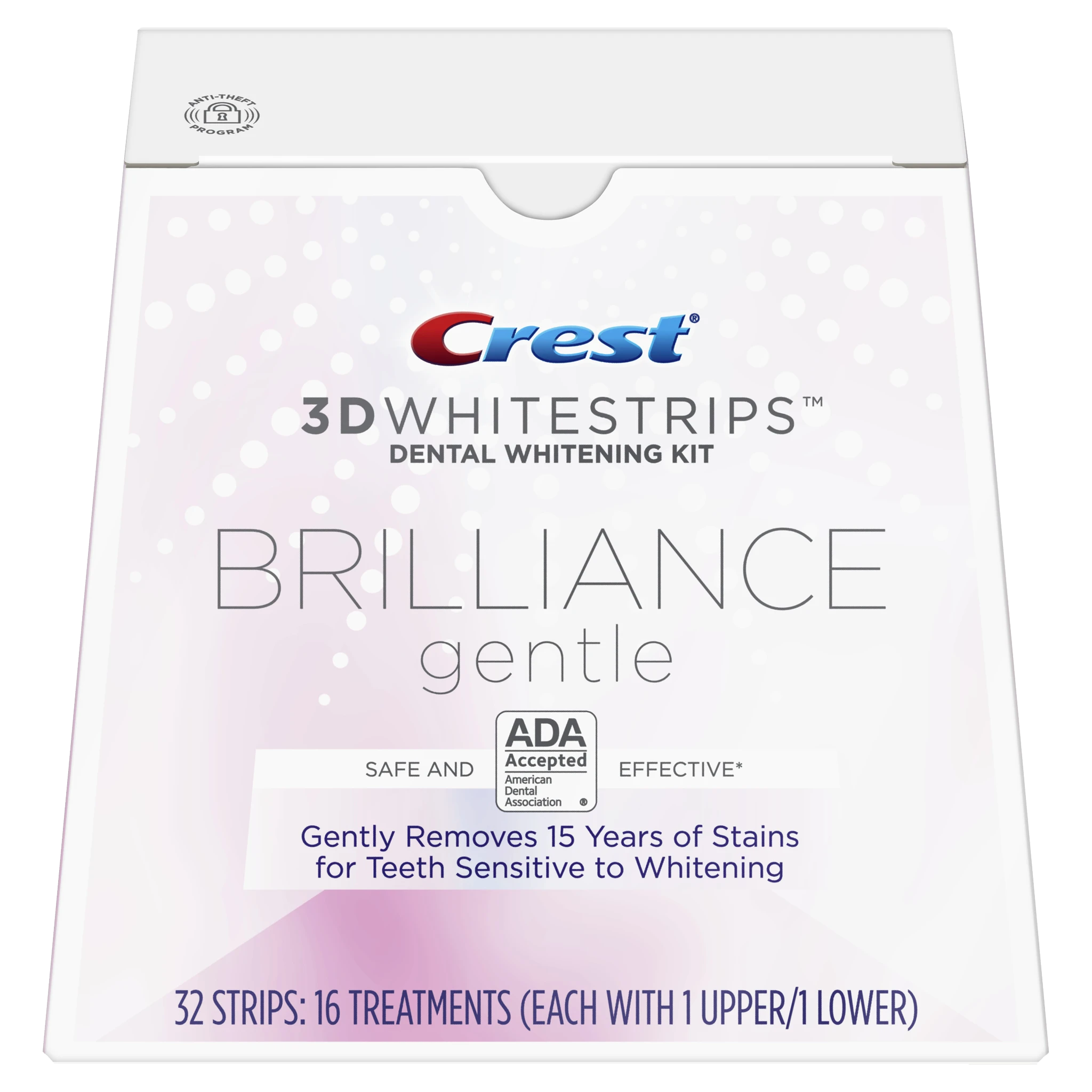 Crest 3D Whitestrips Brilliance Kit de blanchiment des dents douces