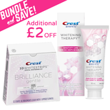 <Bundle Offer> Crest 3D Whitestrips Brilliance Gentle Teeth Whitening Kit & Whitening Therapy Sensitivity Care Toothpaste