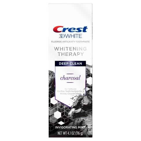 <Offerta bundle> Crest 3D Whitestrips Vivid White Denti Whitening Kit & Whitening Therapy Carbone dentifricio