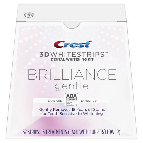 Crest 3D Whitestrips Brilliance Kit de blanchiment des dents doux - My Crest Whitestrips