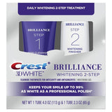 Crest 3D White Brilliance 2 Step Premium Dentifricio e Gel Sbiancante Sistema - My Crest Whitestrips