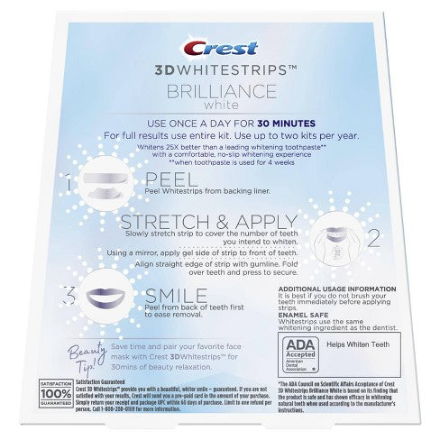Crest 3D Whitestrips Brilliance White White Teeth Whitening Kit - My Crest Whitestrips