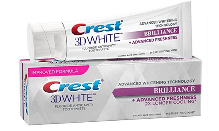 Dentifrice Crest 3D White Brilliance hypnotisant menthe - My Crest Whitestrips