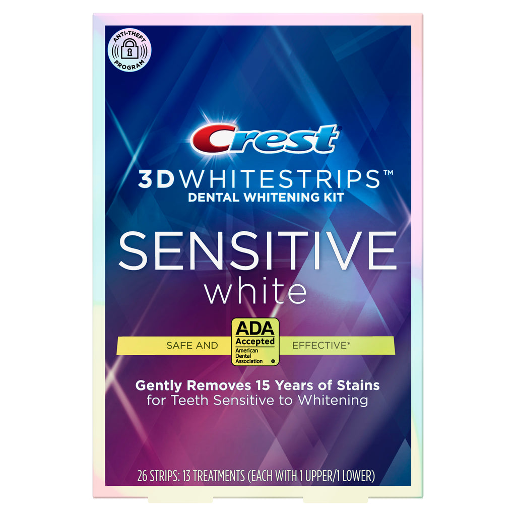 ☆Bundle☆ Crest 3D Whitestrips Sensitive White Dental Whitening Kit &Whitening Therapy Sensitivity Care Toothpaste