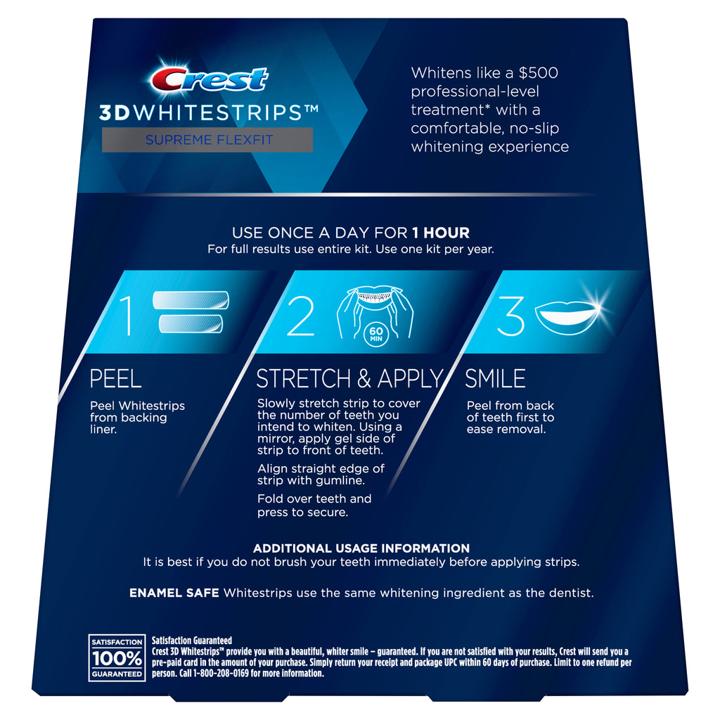 Crest 3D Whitestrips Supreme FlexFit Teeth Whitening Kit