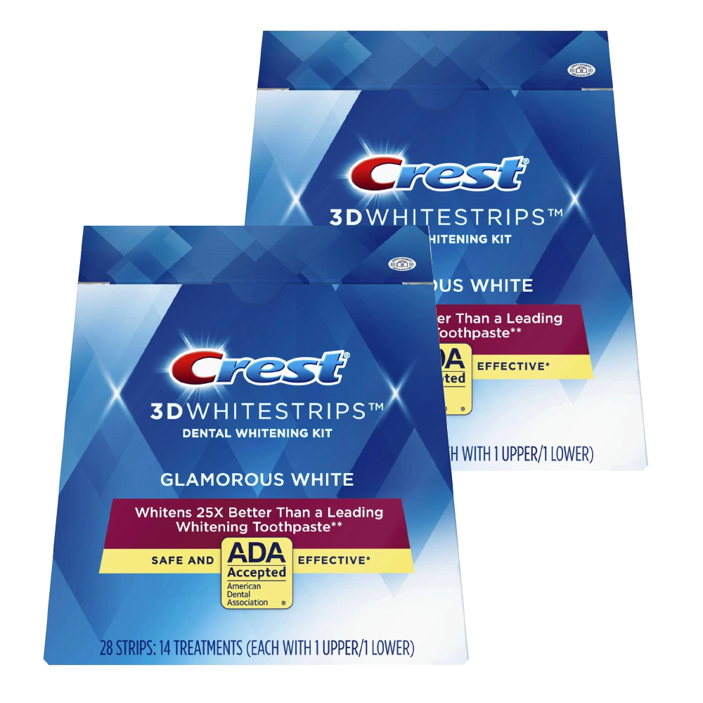 Crest 3D White Whitestrips Kit de blanchiment des dents blanches glamour