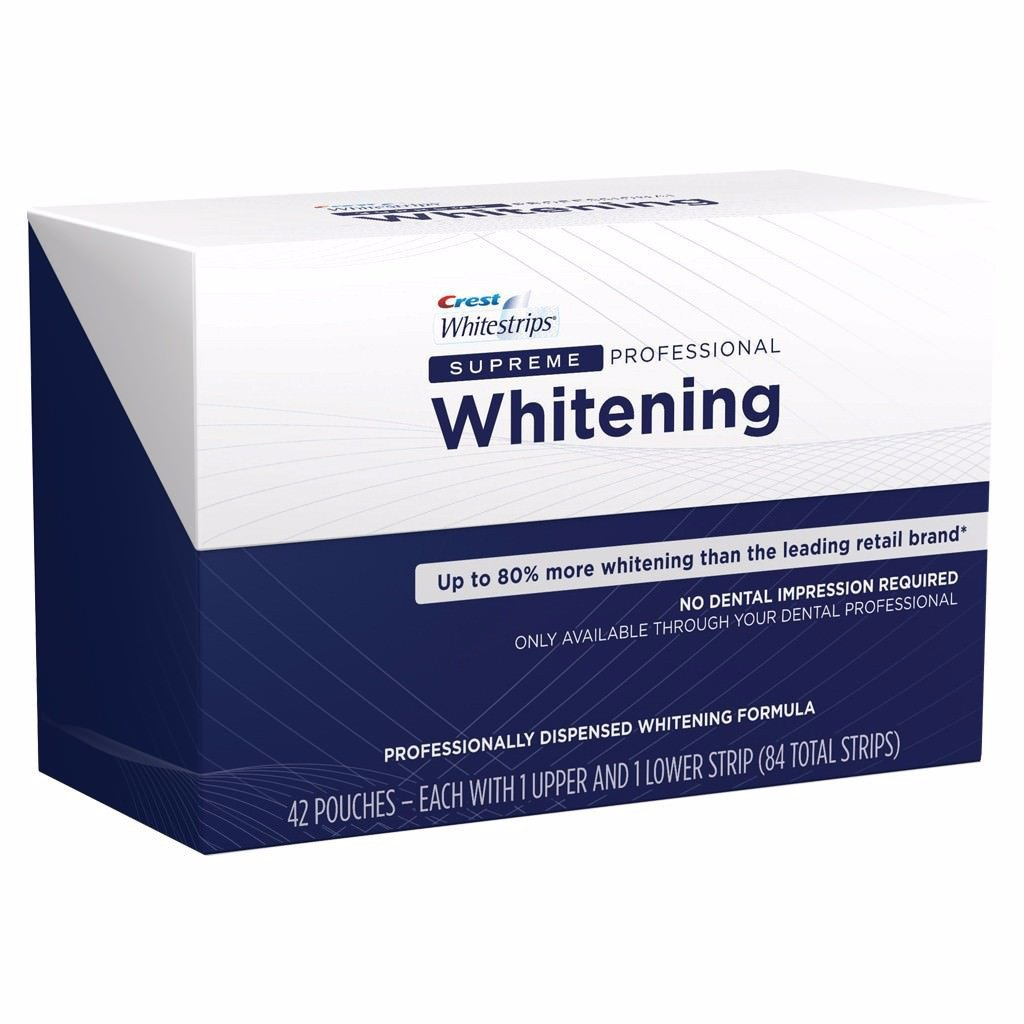 <Offre groupée> Crest 3D Whitestrips Supreme Professional Dents Whitening Strips & Brilliance Whitening Dentifrice - Vibrant Peppermint