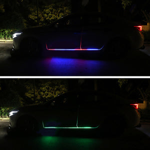 1set 2pcs Car Door Streamer Lights Waterproof