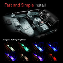 Load image into Gallery viewer, 4pcs/et 7 Color LED Car Interior Lighting Kit