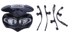 Load image into Gallery viewer, DC 12V Motorcycle Dual Fairing Headlight
