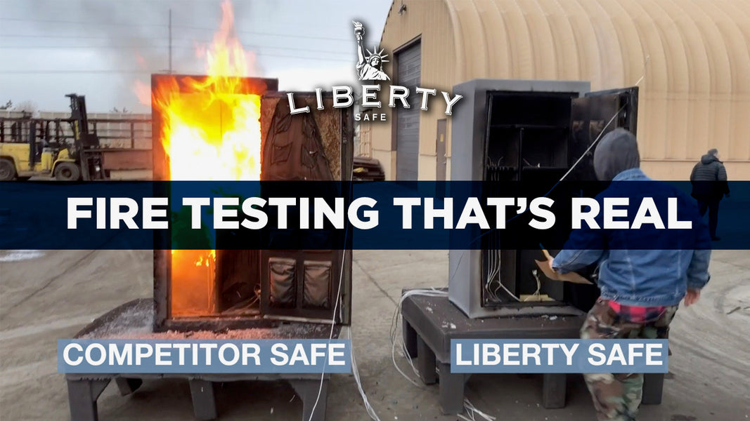 Fire Testing Gun Safes by Liberty Safe