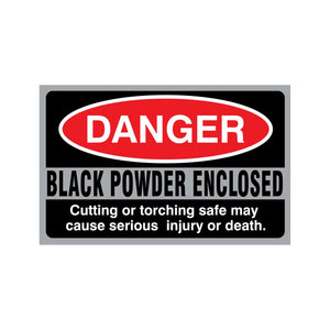 Black Powder Enclosed Sticker