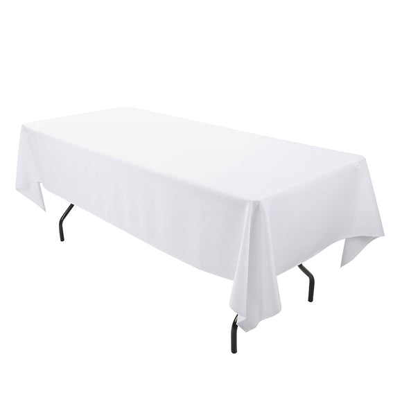 90x132 Inch Polyester Oblong Tablecloth Fit For 6ft