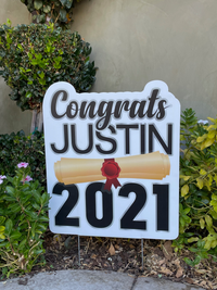 2021 Graduation Yard Sign | LARGE Personalized Name | High School or College Graduation Lawn Sign | Class of 2021