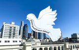 Huge Custom White Dove Sign