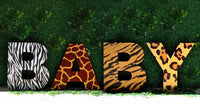 Jumbo Sized Safari Theme BABY Letter Cutout