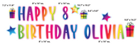 Custom Happy Birthday Rainbow Yard Sign