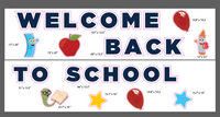Welcome Back to School Yard Sign | School Yard Decoration | Welcome Back Celebration Sign | 27 pcs | Stakes Included