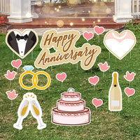 Happy Anniversary Yard Sign Kit
