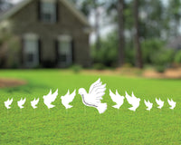 White Dove Yard Sign & Memorial Lawn Decorations