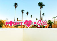 "Fight Like a Girl, Large Custom Hashtagcutout Signs ""Breast Cancer Awareness"" Signs"