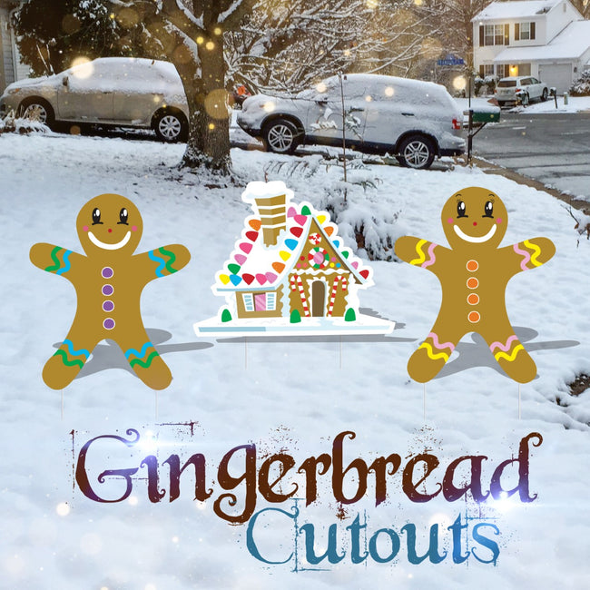 Gingerbread Cardboard Cutouts
