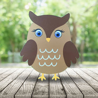 Cute Owl Baby Shower Prop