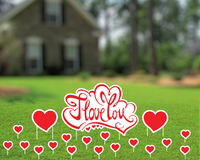 I Love You Yard Sign, Valentines Day Decor, Outdoor Sign