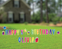 Custom Happy Birthday Yard Sign