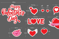 Happy Valentine's Day Yard Sign. Valentines Day Decor, Large