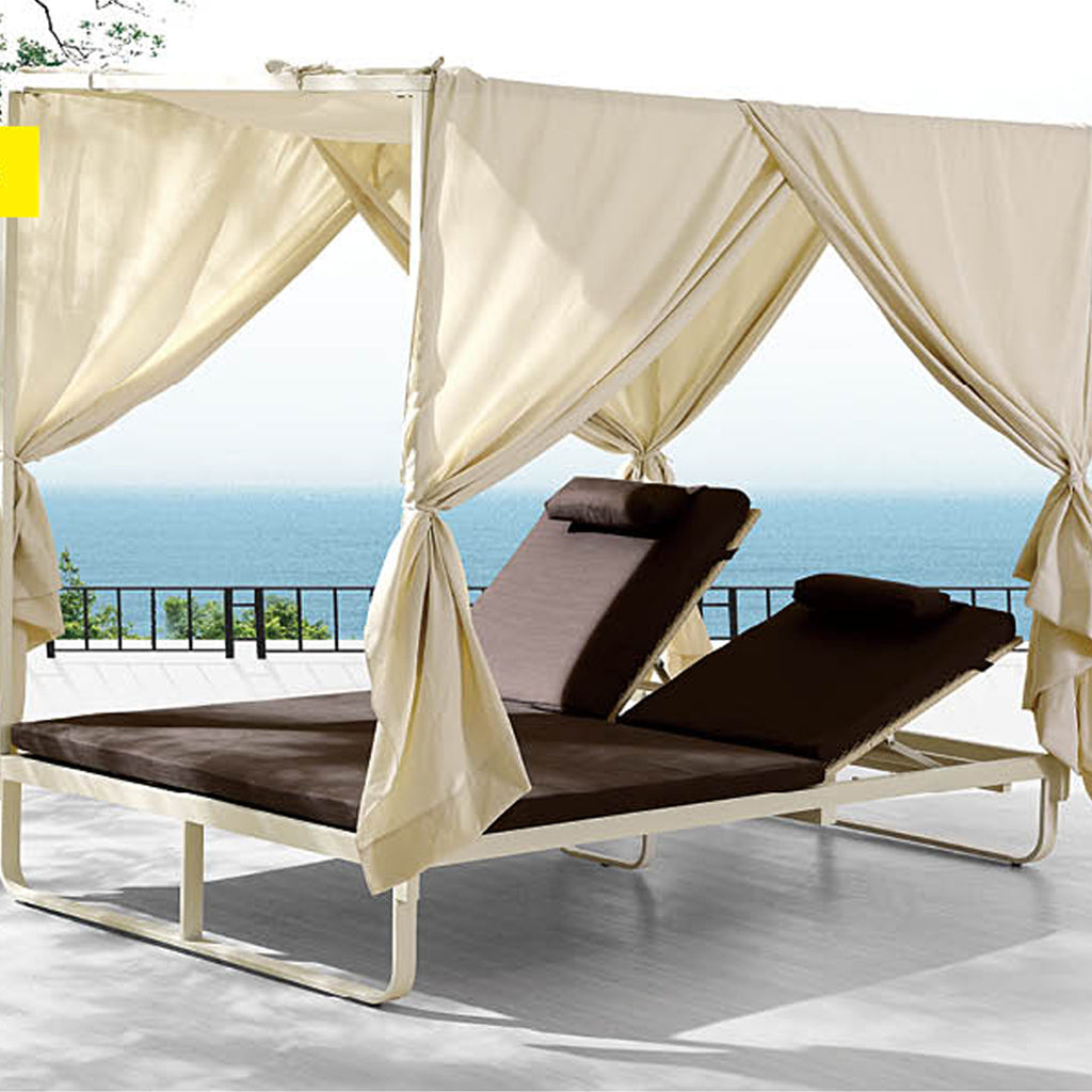 Orlando Double Chaise with Canopy