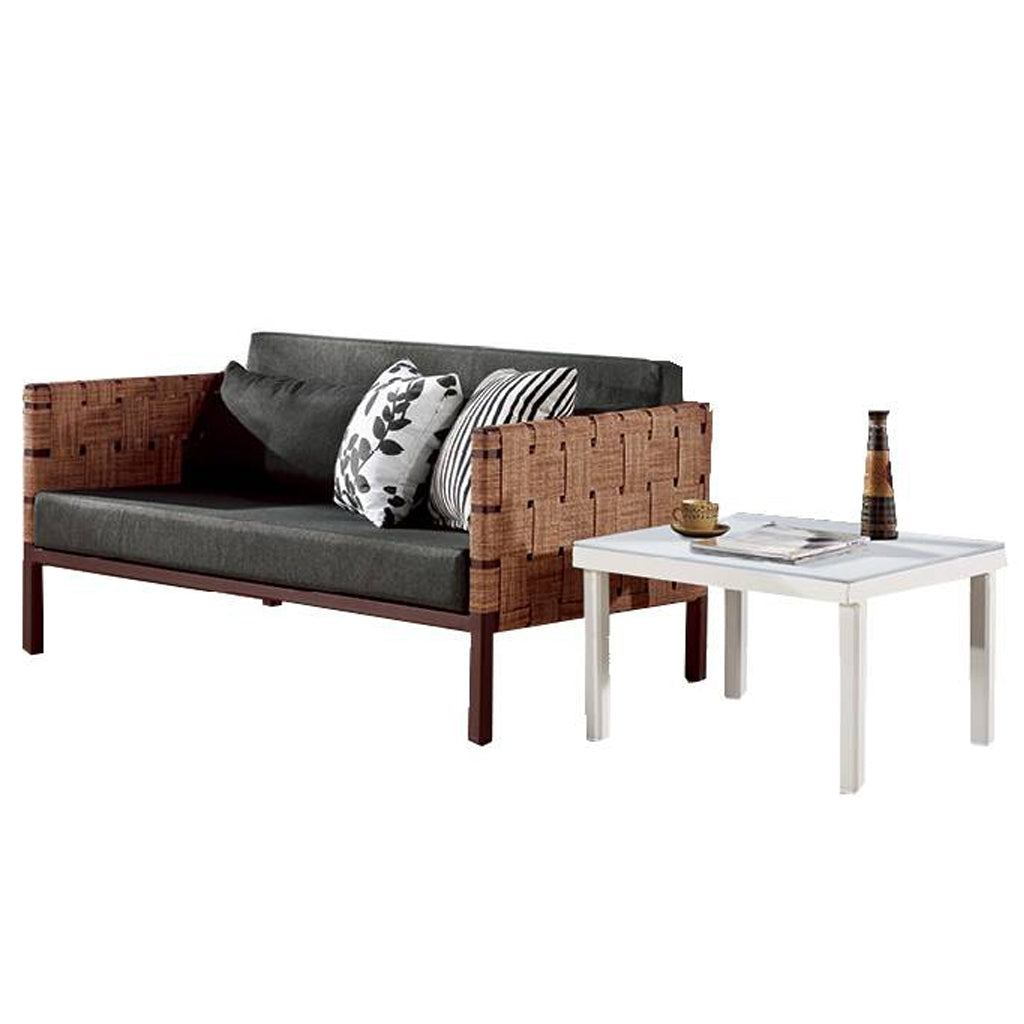 Asthina Loveseat With Coffee Table