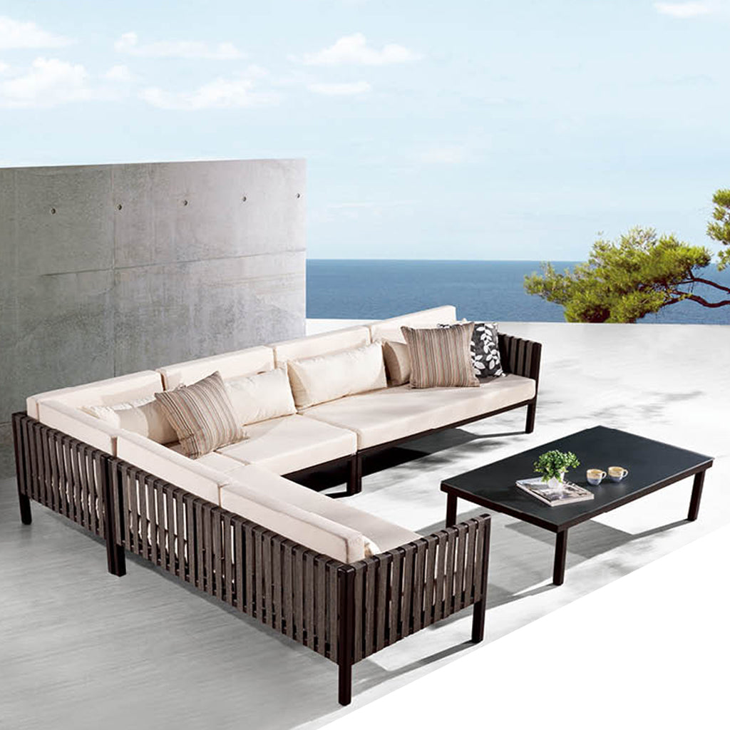 Garnet Sectional Sofa Set With Coffee Table