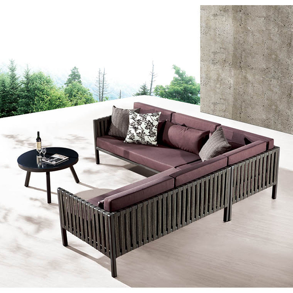 Garnet Sofa Set With Coffee Table