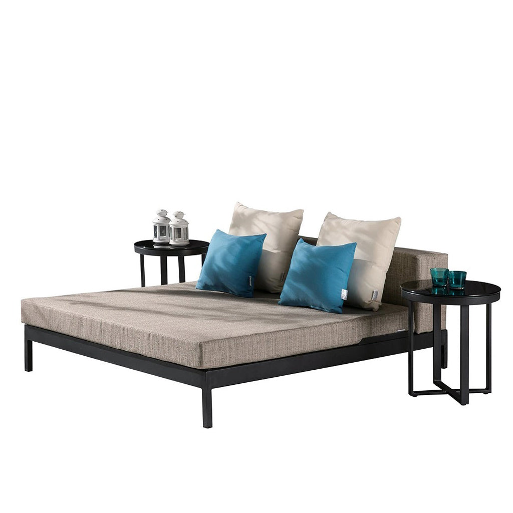 Barite Leisure Bed With 2 Side Round Tables