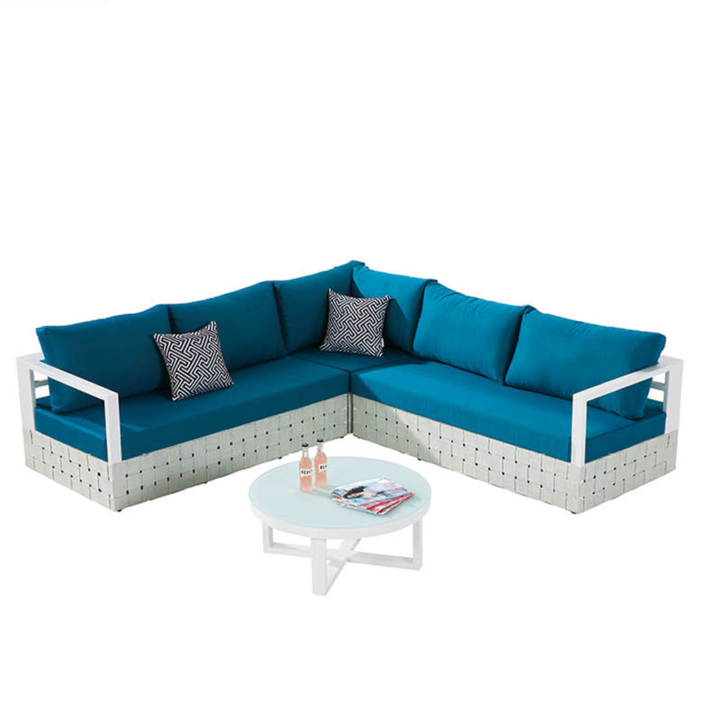Edge Sofa Set For 5 With Round Coffee Table