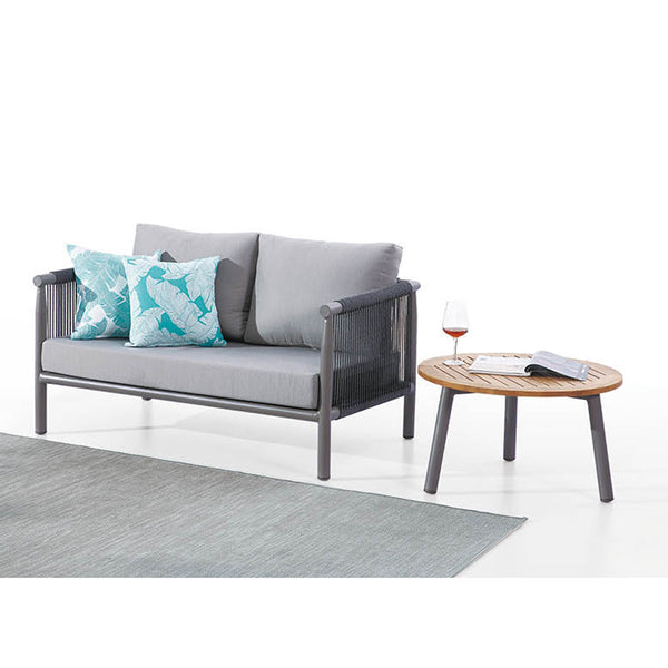 Venice Loveseat With Round Coffee Table