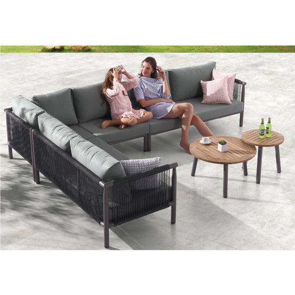 Venice Corner Sofa (4pc) With Two Coffee Table
