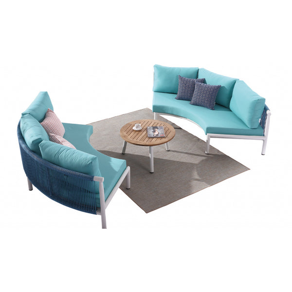 Venice Curved Sofa Set With Round Coffee Table