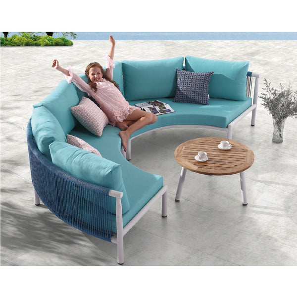 Venice Curved Sofa (2pc) With Round Coffee Table