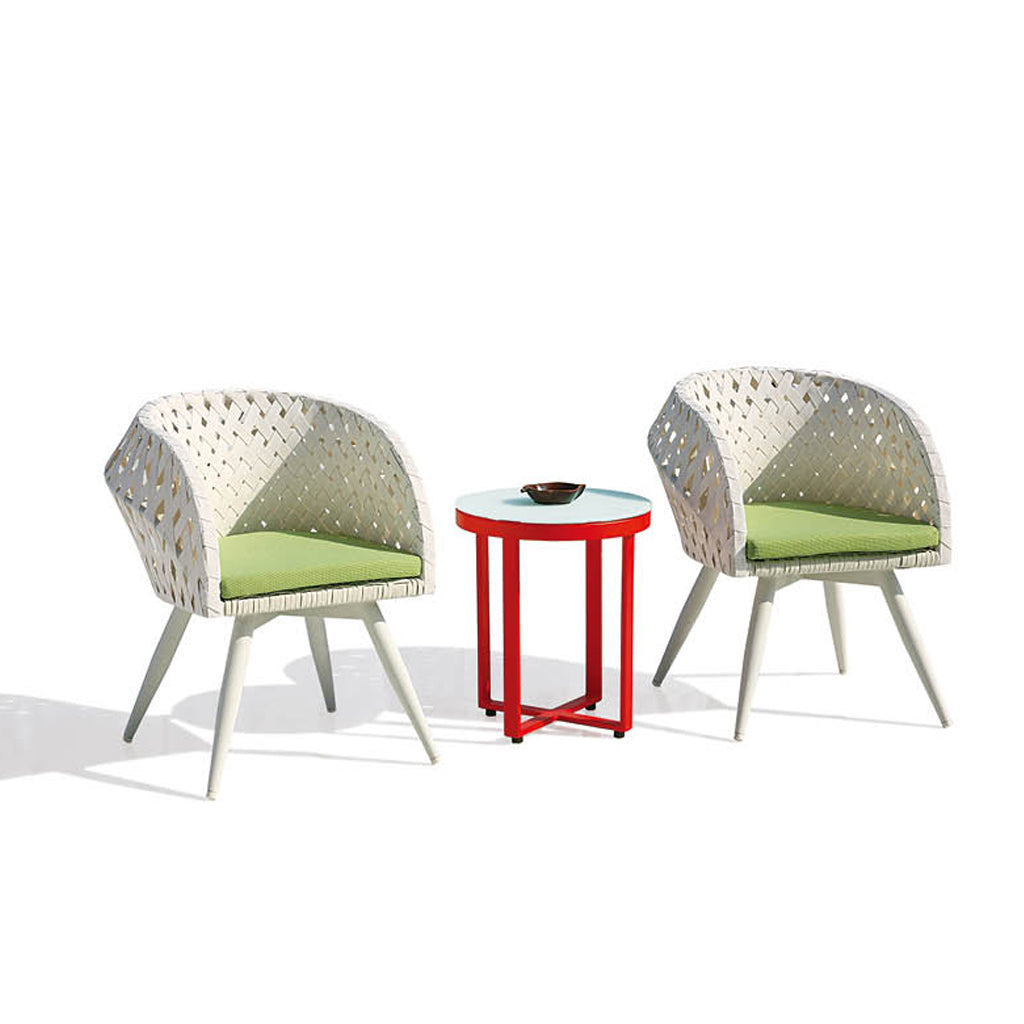Verona Set For 2 With Round Side Table
