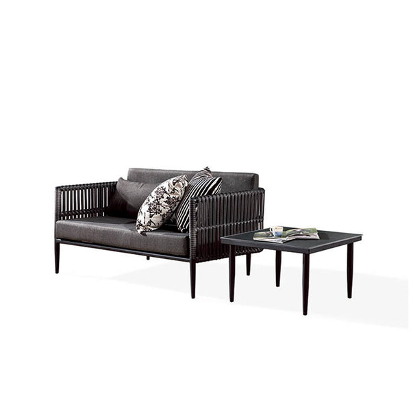 Kitaibela Loveseat With Coffee Table
