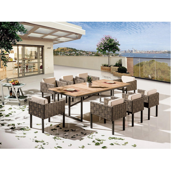 Asthina Dining Set For 8 With Cushions