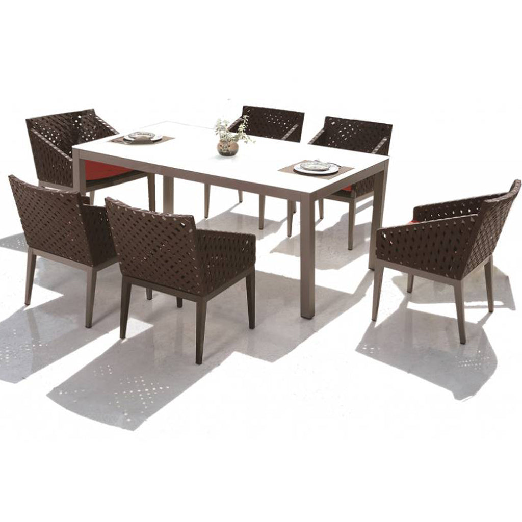 Florence Dining Set For 6 With Trolley