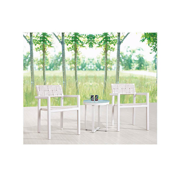 Asthina Seating Set For 2 With Round Side Table
