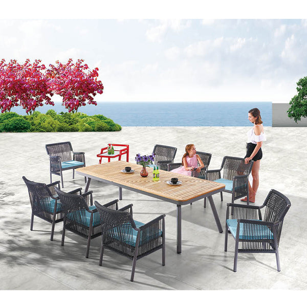 Venice Dining Set For 8 With Service Cart