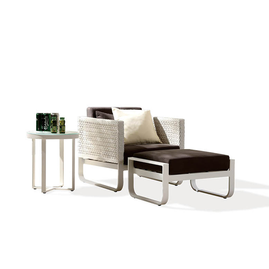 Orlando 1 Seater With Ottoman And Side Table