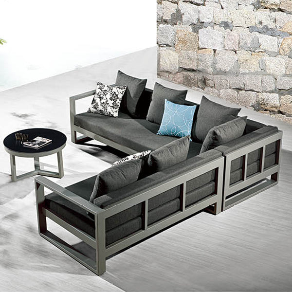 "Amber ""V"" Shape Sectional Set With Coffee Table"