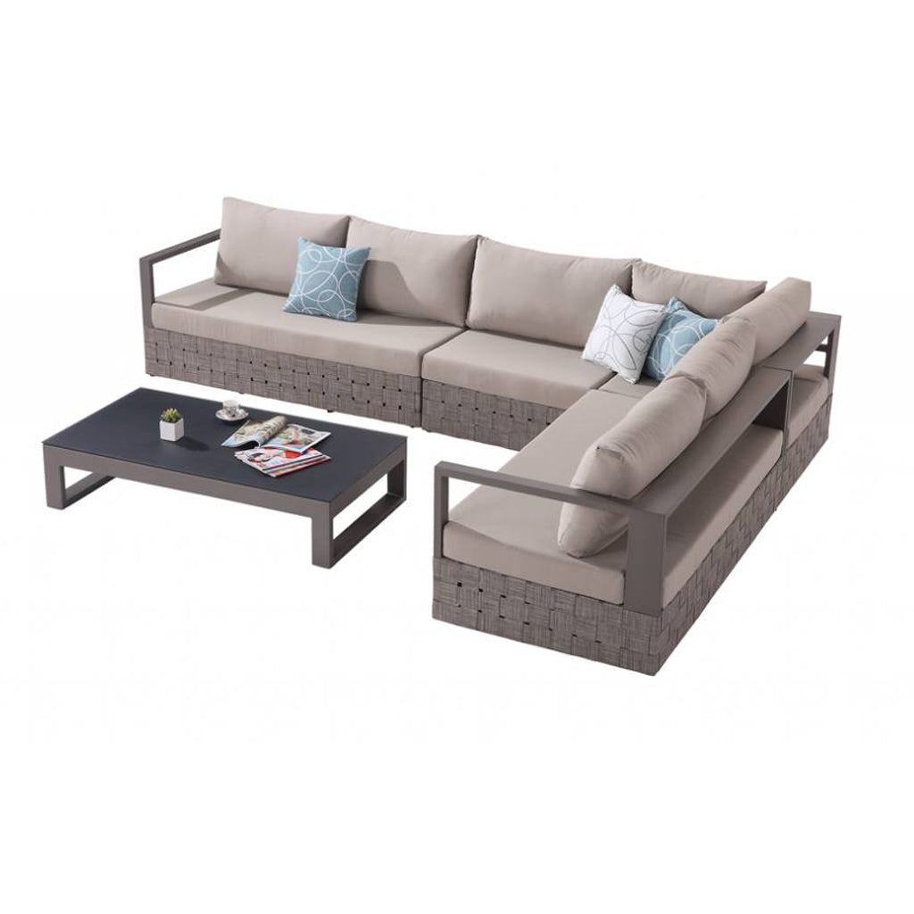 Edge Sofa Set For 6 With Coffee Table