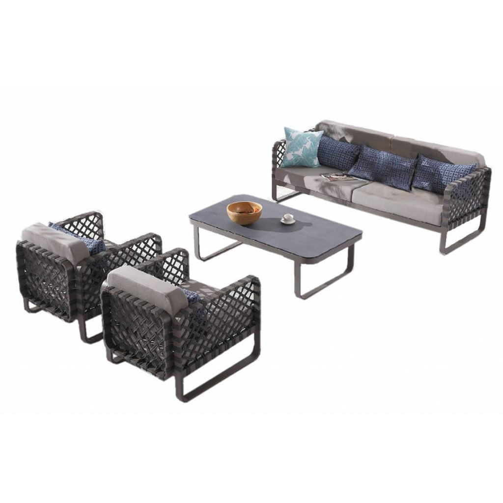 Dresdon Sofa Set With Two Club Chairs